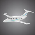 Small private jet vector. Business jet illustration. Luxury twin engine plane Royalty Free Stock Photo