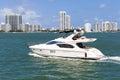 Small private yacht sailing near Miami