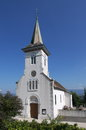 Small protestant church in french village chouly france taken in sept Royalty Free Stock Image