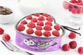 Small raspberry tart Stock Photography