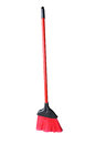 Small Red Broom Stock Photo