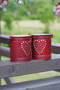 Small red bucket Royalty Free Stock Photos