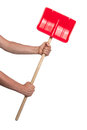 Small red snow shovel Royalty Free Stock Photo