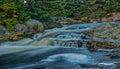 Small river falls Royalty Free Stock Photo