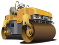 Small road roller Stock Photo