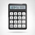 Small Round Black Calculator O...