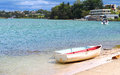 Small rowing boats moored on shore new south wales australia Royalty Free Stock Photography