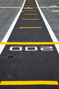 Small runway on the deck of aircraft carrier in thailand Royalty Free Stock Photo