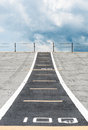 Small runway on the deck of new carrier Royalty Free Stock Photos