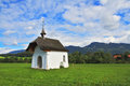 The chapel on a green meadow Royalty Free Stock Photo