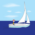 Small sailboat Royalty Free Stock Photo
