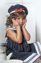 Small sailor girl Royalty Free Stock Photo