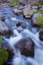 Small scenic water stream with rocks Royalty Free Stock Photography