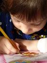 The small schoolgirl Stock Image