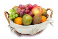 A small set of fruit in a basket Royalty Free Stock Photo