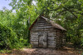 Small shed in the forest storage botanical gardens captures hdr Royalty Free Stock Photos