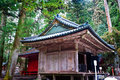 Small Shrine inside Toshogu Shrine in Winter, Nikko, Japan Stock Photo