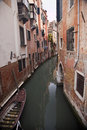 Small Side Canal Venice Italy Stock Photo