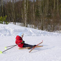 The small skier Royalty Free Stock Images