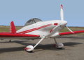 Small sport aerobatic sport airplane. Royalty Free Stock Photo
