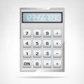 Small Square Metallic Calculat...