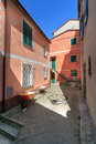 Small square in San Rocco, Italy Stock Image