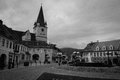 Small square of sibiu hermanndtadt romania photo the Royalty Free Stock Photos