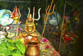 Small statue of lord Shiva in Rumtek Royalty Free Stock Photo