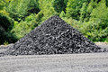 A small stockpile of coal Stock Images