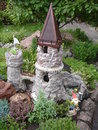 Small stone castle on the alpine hill Royalty Free Stock Photo