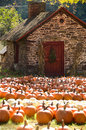 Small stone house in Autumn Royalty Free Stock Photo