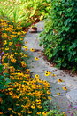 Small stone path in the garden Royalty Free Stock Photo