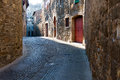 Small street in Montalcino Stock Images