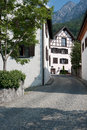 Small street in Vaduz Stock Images