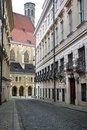Small street in vienna Royalty Free Stock Photography