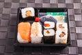 Small sushi tray Royalty Free Stock Photo