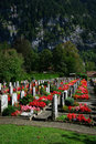 Small Swiss Cemetery Royalty Free Stock Photography