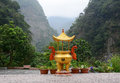 Small temple at forest in hualien taiwan Stock Photo
