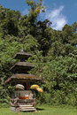 Small temple in the forest of tamblingam bali near Royalty Free Stock Photography