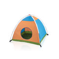 Small tent toy for kid isolated on white background Royalty Free Stock Image