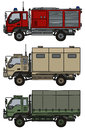 Small terrain trucks Royalty Free Stock Photo