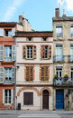 Small toulouse houses the city of has its own property type called petites toulousaines the dominant colour of these Stock Image