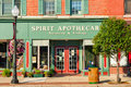 Small town business bedford oh july spirit apothecary is one of the many businesses that keep the main street of this cleveland Royalty Free Stock Photography