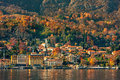 Small town on Lake Como. Royalty Free Stock Photo