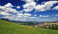Small town ruzomberok slovakia in Royalty Free Stock Images