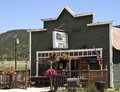 Small town saloon south park in the american of alma colorado claims to be the highest in the usa at elevation Royalty Free Stock Photo