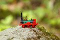 Small toy train Royalty Free Stock Photo