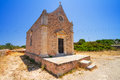 Small traditional church on crete greece Royalty Free Stock Image