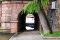 Small tunnel near river in Strasbourg, France. Royalty Free Stock Photo