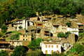 Small typical mountain village of schist Royalty Free Stock Photos